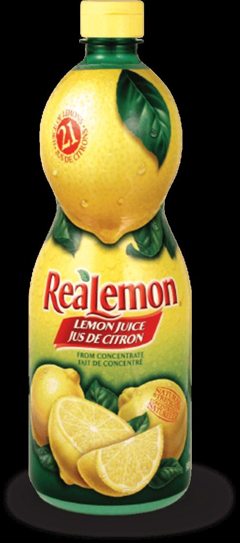 Bottle of ReaLemon lemon juice