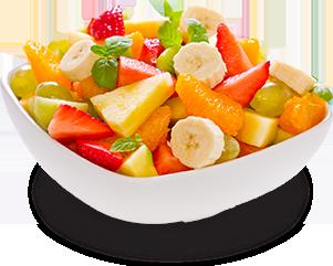 Bol de salade de fruits frais