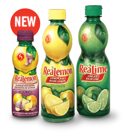 ReaLemon and ReaLime bottles with