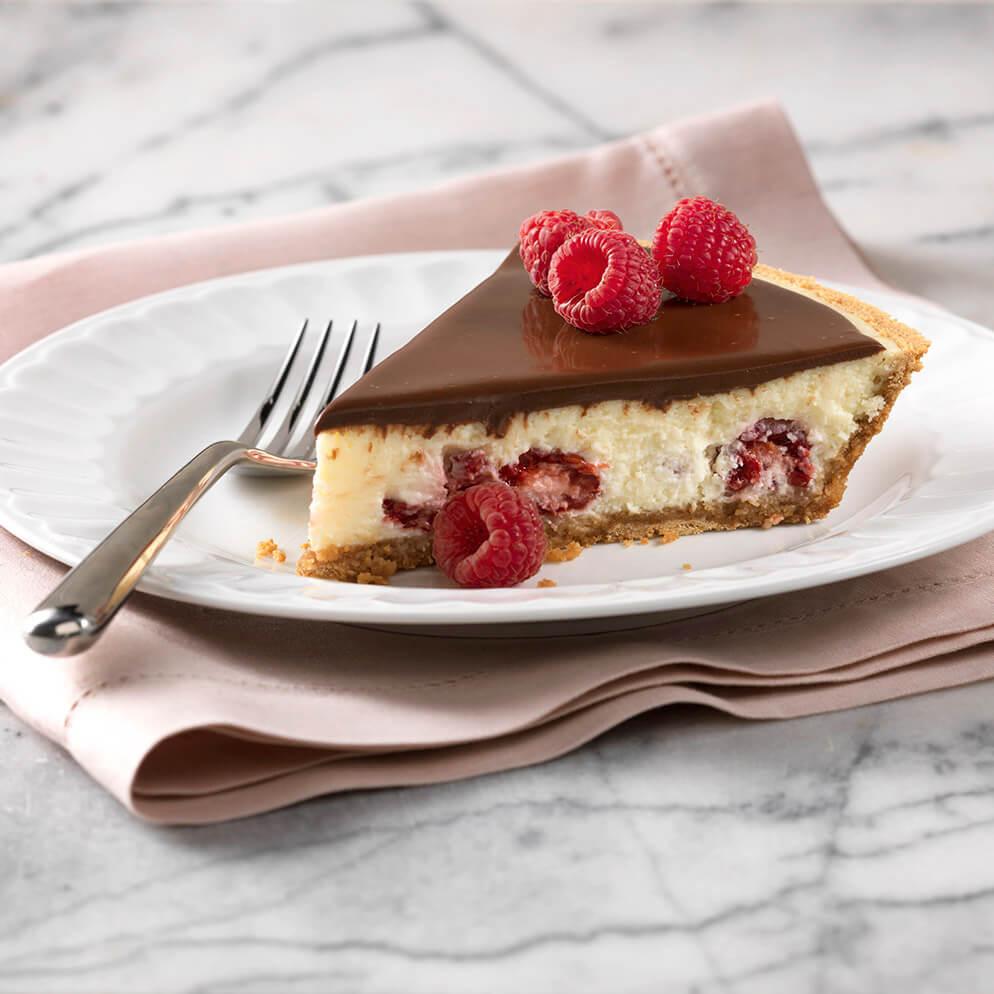 Recette avec du ReaLemon : Gâteau au fromage, au chocolat et aux framboises