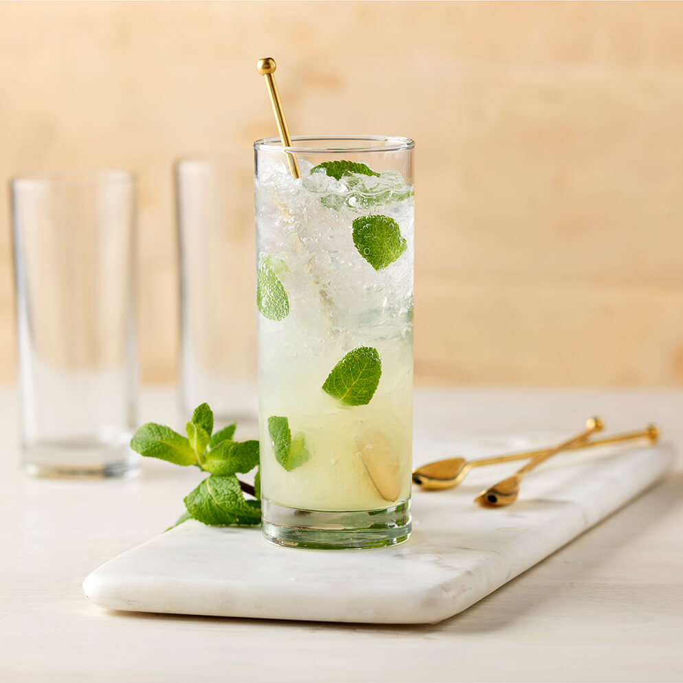 Mojito (Minted Lemonade) in glass recipe made with ReaLime